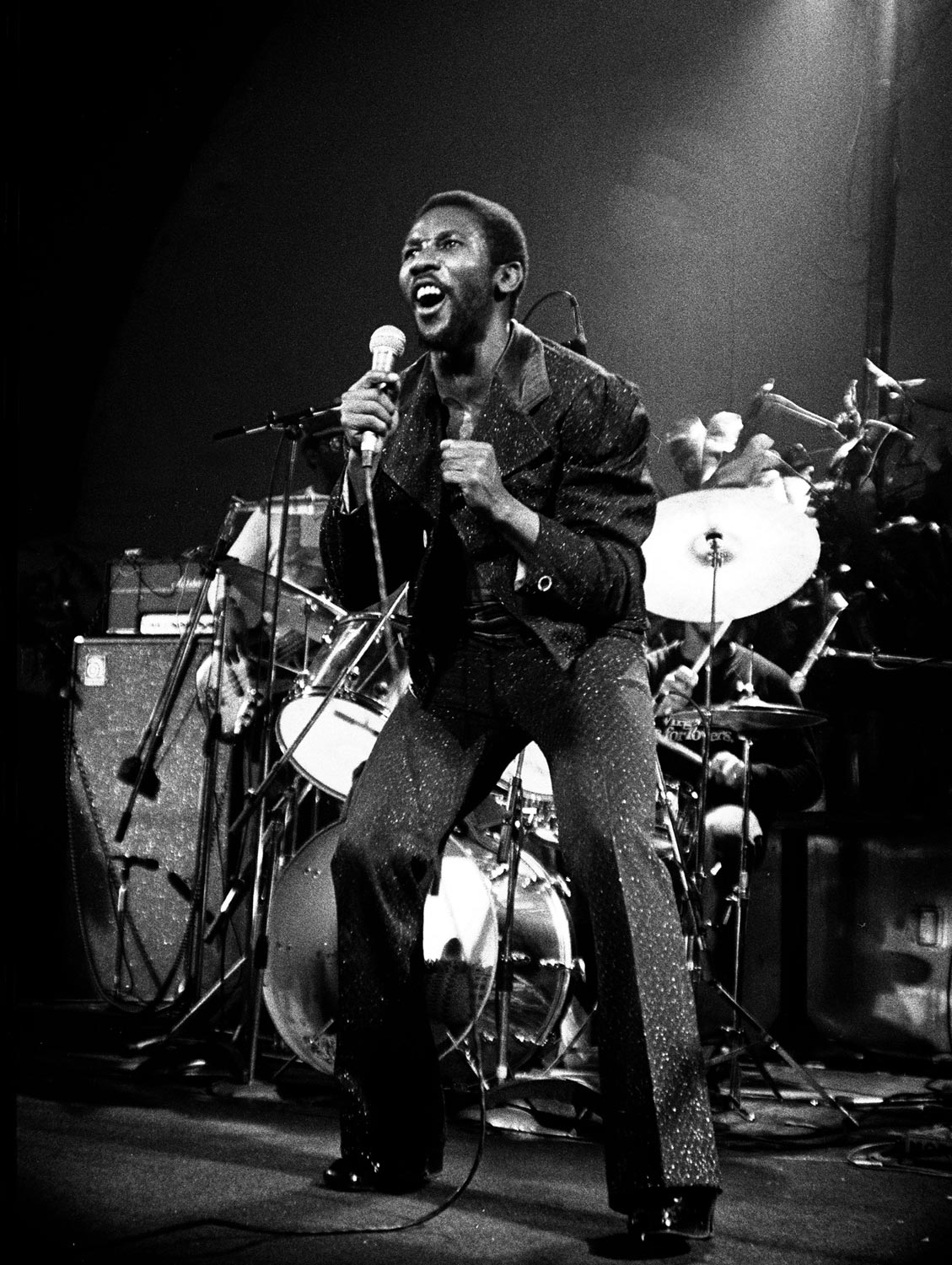Toots, at a live performance in London, 1981. Photograph by UrbanImage.tv/Adrian Boot