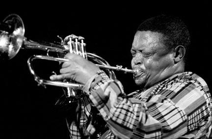 Hugh Masekela. Photograph by David Corio