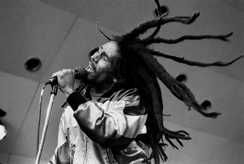 Bob Marley at Crystal Palace Bowl, London. Last show in UK, 5/1980. Photograph by davidcorio.com