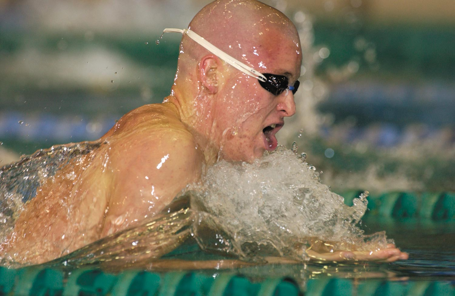 George Bovell III: world record holder in the 200 metres individual medley. Photograph courtesy Auburn University