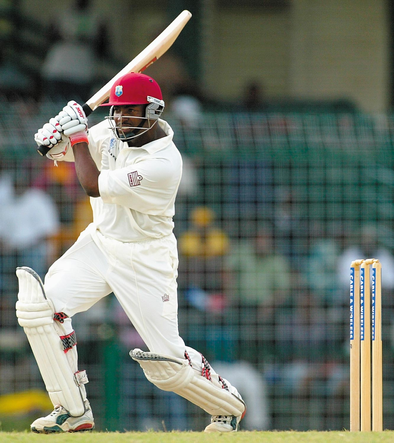 Brian Lara of the West Indies in action. Photo by Hamish Blair/Getty Images