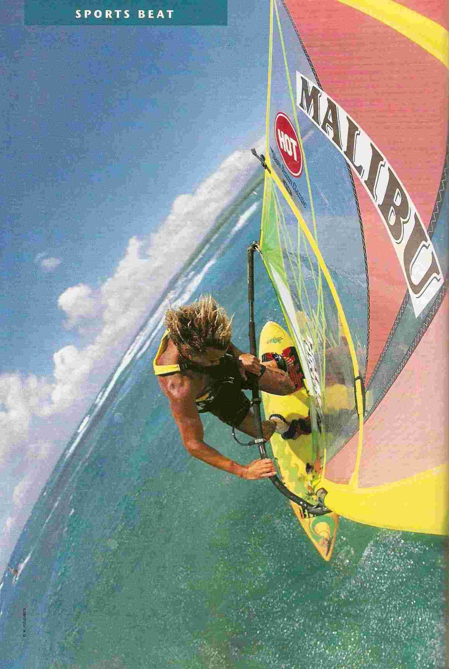 Barbados's Brian Talma ranks among the world's top 20 windsurfers. Photograph by D.W. Hollenbeck