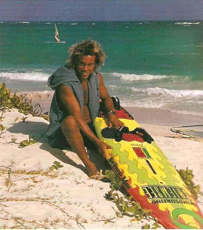 Brian Talma on home territory in Barbados. Photograph by Roxan Kinas