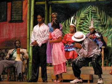A scene from the 2004 Pantomime, Iffa Nuh So. Photograph courtesy the Little Theatre Movement