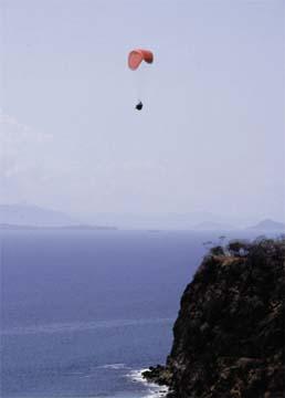 Paragliding at Puntarenas
